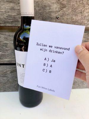 Rode Wijn + Etiket