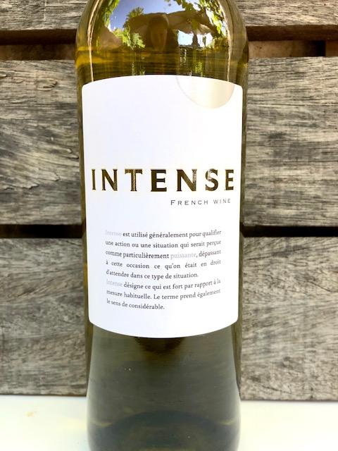 Fles Intense d'Oc, witte wijn uit Frankrijk