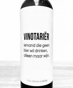 wijnetiket vinotariër