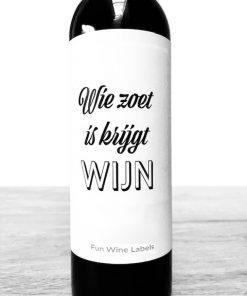 Wijnetiket zoet wijn