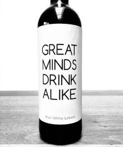 wijnetiket great minds