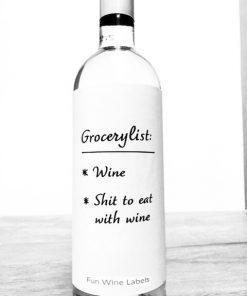 wijnetiket grocerylist