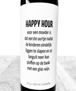wijnetiket happy hour