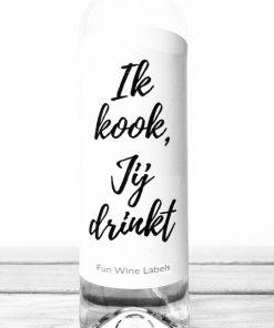 wijnetiket jij drinkt