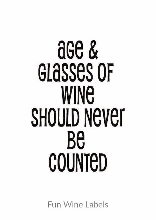 Wijn quote Age Glasses