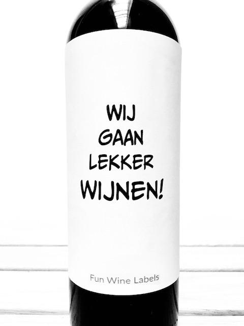 Wijnetiket Lekker Wijnen