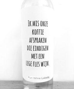 Wijnetiket Mis Je