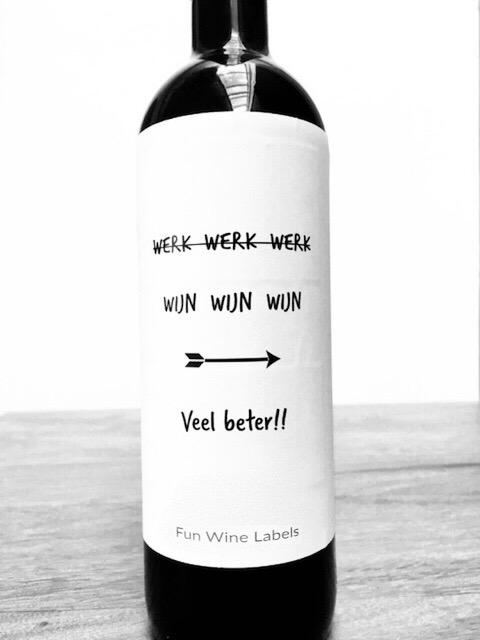 Wijnetiket Werk Wijn