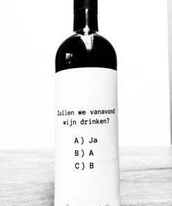 Wijnetiket Wijn Drinken