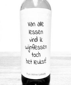 Wijnetiket Wijnflessen