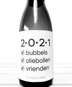 Wijnetiket 2021, perfect voor Oud & Nieuw