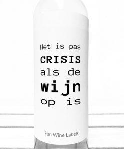 Wijnetiket Crisis Wijn