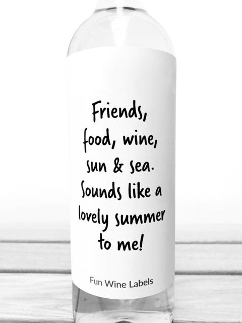 Wijnetiket Lovely Summer, vier de zomer met je vrienden