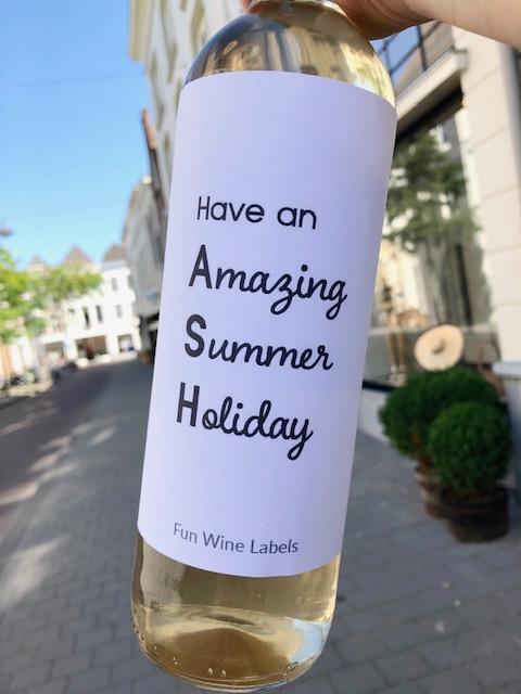 Wijnetiket Summer Holiday, vier het begin van je zomer