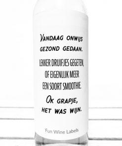 Wijnetiket wijn smoothie