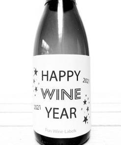 Wijnetiket Wine Year, perfect cadeau voor Oud & Nieuw