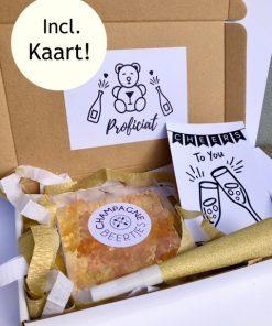 Proficiat Brievenbusbox Classy, brievenbus pakket voor verjaardag