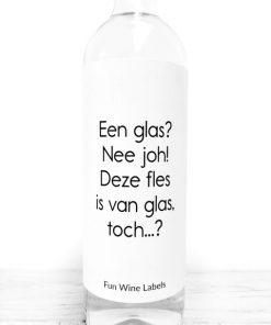 wijnetiket Één glas wijn van fun wine labels
