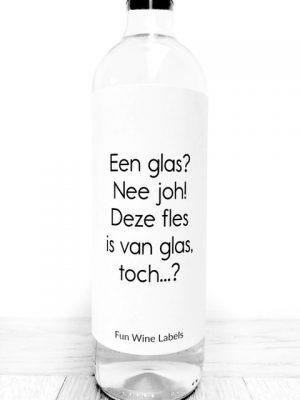 Één glas wijn