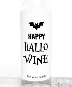 Wijnetiket Happy Hallowine, perfect cadeautje voor Halloween