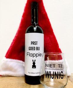 kerstpakket fles & glas, een origineel kerstcadeau