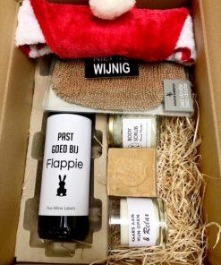 kerstpakket relax in een verzenddoos