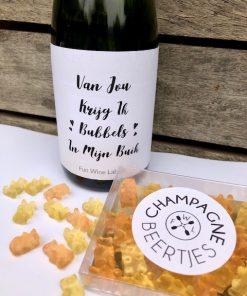 Bubbel & Beer Pakket, fles Cava met champagne beertjes