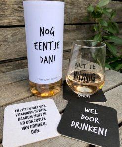 wijnviltje door drinken, leuk bij de borrel