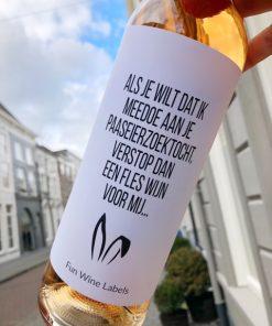 wijnetiket paas wijn, perfect cadeau voor pasen