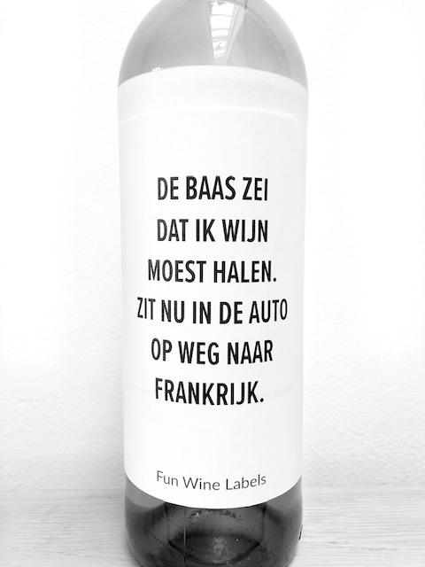 wijnetiket baas wijn