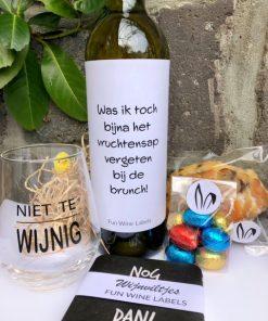 paas pakket cheers met etiket brunch wijn