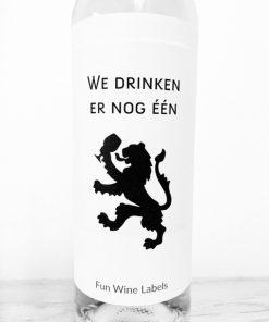 design wijnetiket drinken leeuw