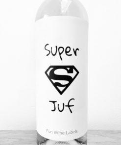 wijnetiket super juf