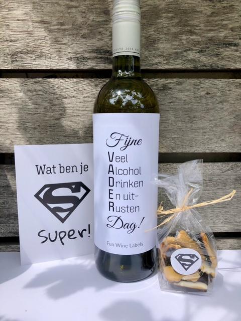 super papa wijnpakket voor als je vader van wijn houdt