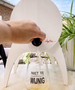 Wijntap Winy Bar inschenken niet te wijnig glas